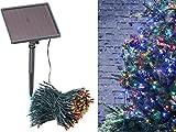 Lunartec Lichterkette für Garten: 4-farbige Solar-LED-Lichterkette mit 500 LEDs und Timer, IP44, 50 m (Kaltweisse Solar-Lichterkette)