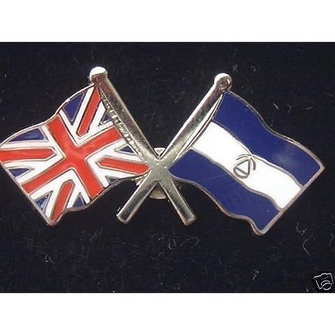 El Salvador e Regno Unito Amicizia Nazionale Doppio Bandiera Pin Badge