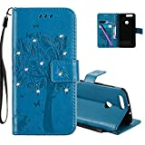 COTDINFOR Huawei Honor 8 Protection Case for Girls Flip PU