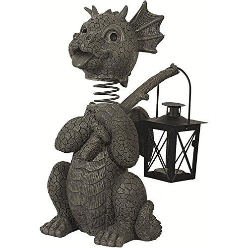 Dragon! Avec bobble head! Avec lanterne! Lanterne photophore! Jardin! Figure!