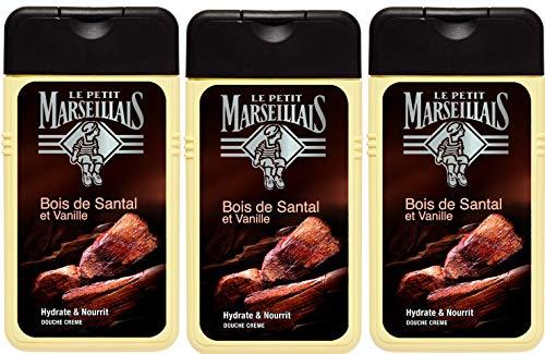 Le Petit Marseillais Douche pour Homme Santal Vanille 250 ml - Lot de 3