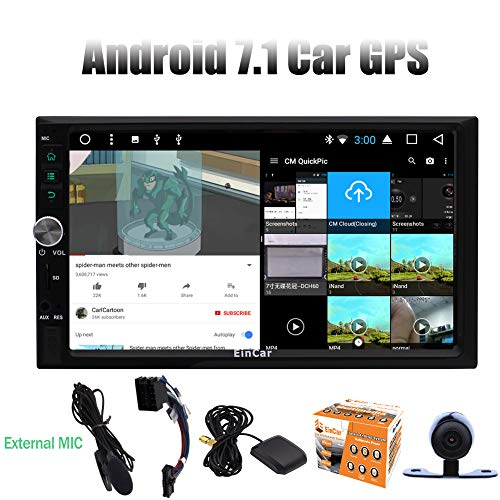 klusive! Android 7.1 Nougat Doppel-DIN-Autoradio Radio-Video-Player mit 7''Inch Touch Screen Unterst¨¹tzung Split Screen Mutlitasking Unterst¨¹tzung GPS Sar Navi Bluetooth Autor ()
