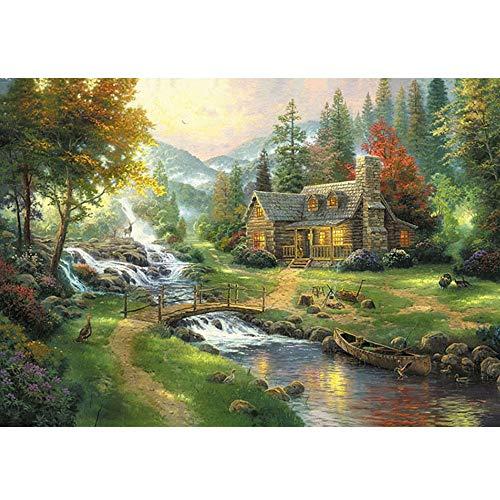 GYZ Puzzle, Brücke, Sternenhimmel, kreative Geschenke, 1000 Teile, Dekompressions-Puzzlespiel DIY (Color : A) (Sternenhimmel Eine Einem Zu Brücke)