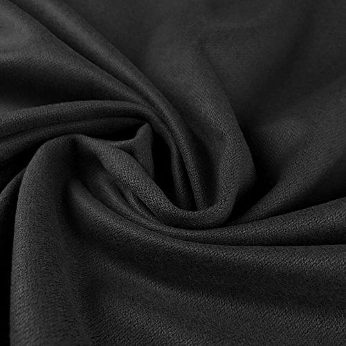 Grau Waschbar Melton Polyester Viskose Mix Weich Wolle Look Stoff Material 152,4cm 150cm Breite–Meterware (Waschbar Stoff Wolle)