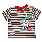 BÓBOLI - Camiseta de manga corta a rayas, bebé niño, multicolor (18 meses)