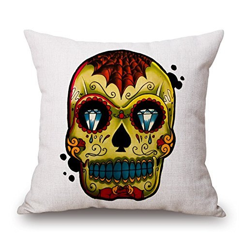 beautifulseason The Ferocious Skull Death You Must Die Pillow Cases of,18 X 18 Inches/45 by 45 cm Decoration,Gift for Teens Girls,Birthday,Seat,Girls,Car Seat,Kids (Both Sides)