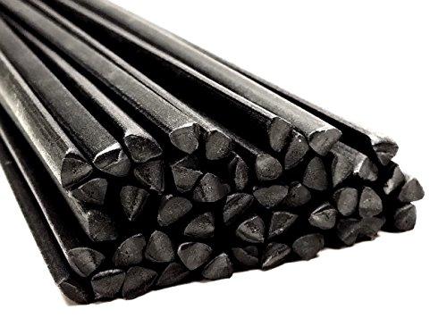 Plastique baguettes de soudure PP Noir 6mm Triangulaire 25 Barres