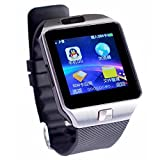 Colofan C05 Smartwatch Herzfrequenz-Test Bluetooth Armbanduhr Handy-Uhr mit Pedometer Anti-verlorene Kamera f¨¹r iPhone iOS Samsung Huawei Android Phones(Silber-)