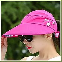 Sombrero Femenino Verano UV Visera Parasol Plegable Sol Protección Sombrero Sombrero Vaquero Superior Grande Roca Salvaje Sombrero
