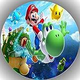 Fondant Tortenaufleger Tortenbild Geburtstag Super Mario P6
