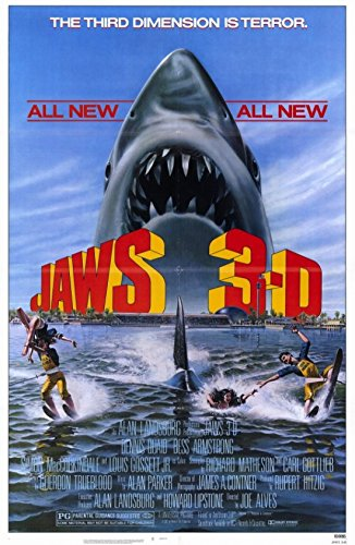 Jaws 3 Movie Poster (27,94 x 43,18 cm) (Jaws 3-poster)