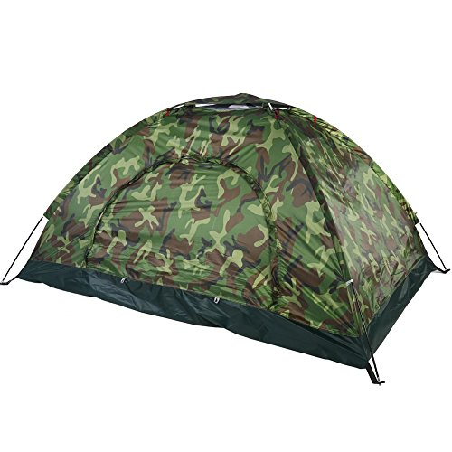 Tenda da campeggio outdoor camouflage 2persone protezione uv impermeabile family travel dome impermeabile festival escursionismo tenda pieghevole con borsa per il trasporto