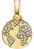 Michael Kors Damen-Charm 925er Silber One Size, gold