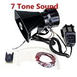 Yida 12V 80W 7 Tone Sound Auto Sirene Fahrzeug Horn mit Mic PA Lautsprechersystem Emergency Sound Amplifier Auto Siren Lautsprecher