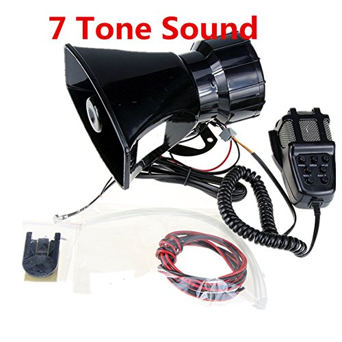 Yida 12V 80W 7 Tone Sound Auto Sirene Fahrzeug Horn mit Mic PA Lautsprechersystem Emergency Sound Amplifier Auto Siren Lautsprecher (Pa-lautsprecher Car-audio)