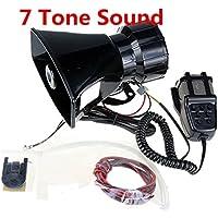 D'urgence Son Amplificateur 12 V 80 W 7 Voiture Sirène Haut-Parleur Voiture Sirène Voiture Haut-Parleur avec Microphone PA Système D'enceintes