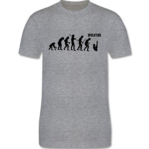 Evolution - Turmspringen Evolution - Herren Premium T-Shirt Grau Meliert