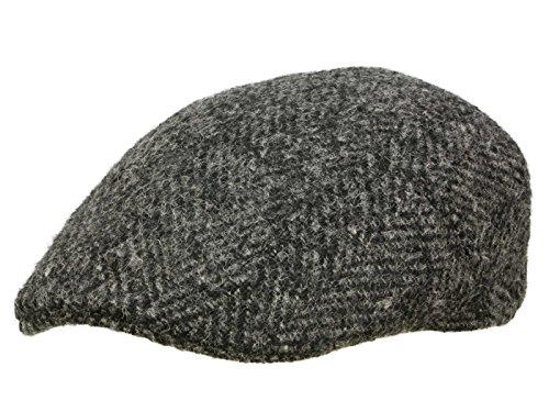 Stetson Ivy Cap Herringbone Schiebermütze aus Schurwolle - schwarz 58 (Baumwolle Cap Stetson Ivy)