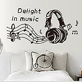 Qianxing Musik Note Notensystem Stil abnehmbares Wandbild Wandtattoo für Haus Klassenzimmer Deko Wandpapier in verschiedene Größe und Motive(Musik A) Größe:(100*45)