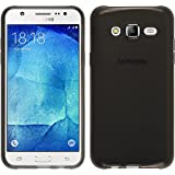 Funda de silicona para Samsung Galaxy J5 (J500) - transparente negro - Cover PhoneNatic Cubierta + protector de pantalla
