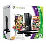 Xbox 360 - Konsole Slim 4 GB, Carnival und Kinect Adventures, schwarz-matt  (inkl. Kinect Sensor)
