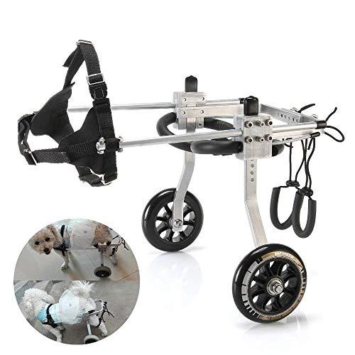 Verstellbarer Hunderollstuhl Hinterbeine Behinderter Rollstuhl Für Behinderte Hunde Rehabilitationshunderoller Für Hinterbeine (Size : M)