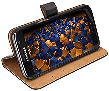 mumbi Etui Cuir Samsung Galaxy S7 en Book Style - Etui à Clapet Portefeuille Étui Housse Protecteur Pochette Bookstyle noir / Pied Pivotant
