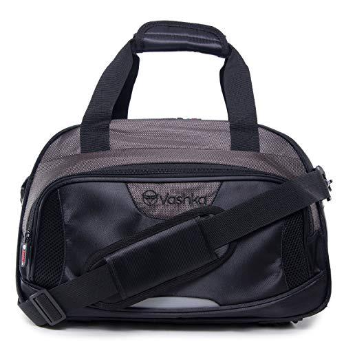 Neue Reisetasche von Vashka | an Bord Gepäck | Ryanair-konformes Gepäck 40x20x25cm | Schwarz