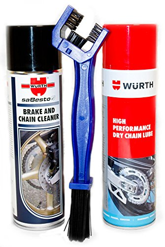 wurth-brake-and-chain-cleaner-dry-chain-lube-with-chain-brush-combo-pack