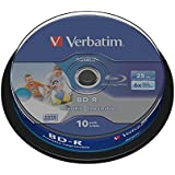 Verbatim 43804 BD-R SL 6x 10 Pack DataLife Optical Media