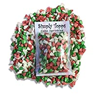 simply topps Christmas Tree Shaped Glimmer Sugar Sprinkles 30g Cake & Cupcake Decorations