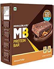 MuscleBlazeProteinBar(22gProtein)6Piece(s)/PackAlmondFudge
