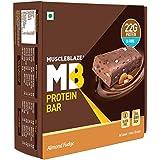 MuscleBlaze Protein Bar (22g Protein), (Almond Fudge, Pack of 6)