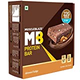 MuscleBlaze Protein Bar (22g Protein), (Almond Fudge, Pack of 6)