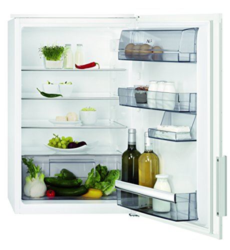 AEG SKB58821AE Kühlschrank / 142 l Kühlraum / integrierbarer Kühlschrank ohne Gefrierfach / dekorfähiger Einbaukühlschrank mit Gemüseschublade / vollautomatisches Abtauen / A++ / H: 88 cm / weiß