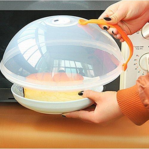 Mikrowellendeckel StillCool 26*10.5cm Mikrowellenabdeckhaube guter Qualität aus Kunststoff 3 Farbe (Orange)