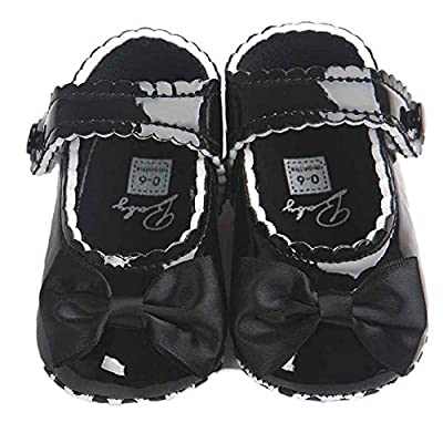 Mode Freizeit PU-Leder Babyschuhe - Anti-Rutsch Krippeschuhe Kinderschuhe Hallenschuhe, Neugeborene Baby Mädchen Princess Kleinkind Schuhe Krabbelschuhe für 0-18 Monate