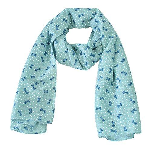 zedtom-Candy-colori-bambina-sciarpa-sciarpe-moda-Cute-Calda-140-40-blu-Blue-140cm40cm