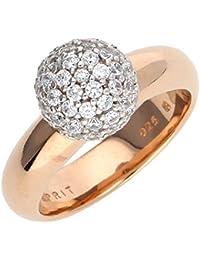 Esprit Jewels Damen-Ring 925 Sterling Silber Glam sphere rose ESRG92309B1