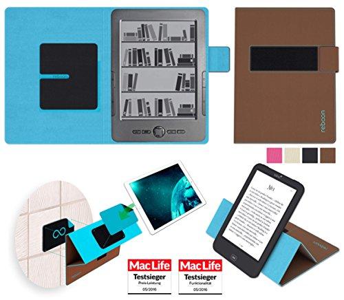 reboon Hülle für Blaupunkt Livro Tasche Cover Case Bumper | in Braun | Testsieger