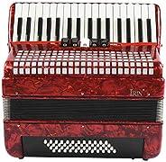banapoy Acordeón de 34 Teclas Duradero, Buen Rendimiento, Conveniente, Ligero, práctico, acordeón de Piano, Ap