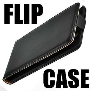Original q1 Sony Xperia E Flip Case Tasche Ledertasche Etui Hülle Schutzhülle Schwarz