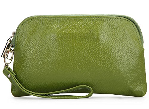 Pochette In Pelle Semplice Ms. Green
