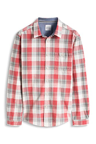 edc by Esprit Kariert, Chemise Casual Homme Rouge (RED 630)