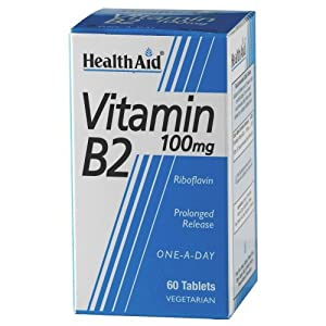 (4 PACK) - HealthAid - Vitamin B2 (Riboflavin) 100mg | 60's | 4 PACK BUNDLE