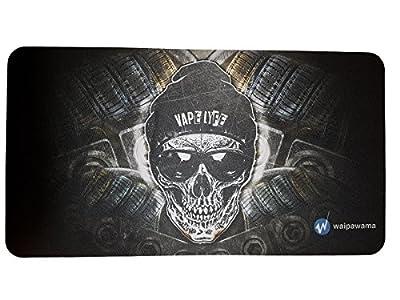 Waipawama XXL Vape Matte Wickelmatte Dampfermatte Totenkopf Gaming Mausepad Unterlage von waipawama