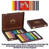 Caran D'Ache 30 Supracolor Wasserlöslichen Farbstifte & 30 Pablo Permanente Buntstifte