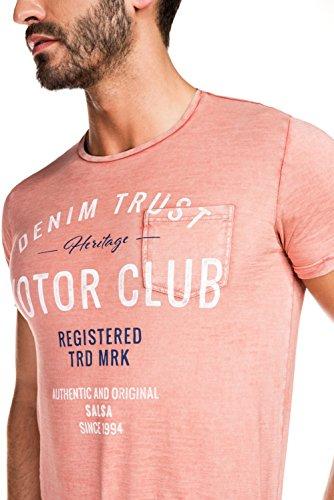 """Salsa - T-Shirt, mit Aufdruck """"Denim trust"""" - Herren Rot"""