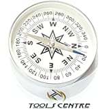 Tools Centre 75mm Dia Lightweight Aluminum Camping travel Mini Compass Hiking Navigation