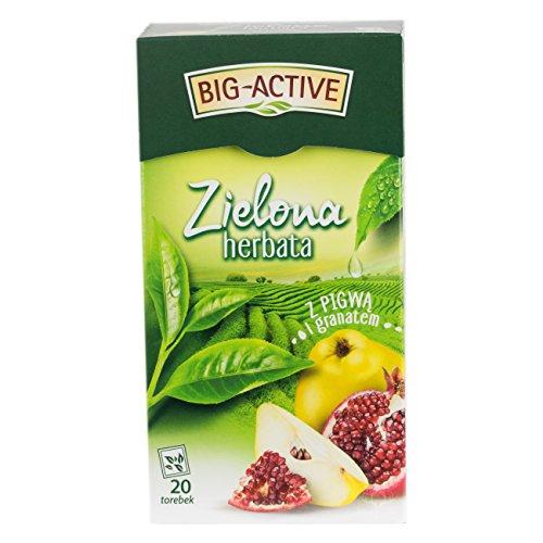 Grüner Tee mit Quitte und Granat 20 Beutel von Big-Active I Polnischer Tee & Heißgetränke